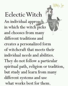 Beginner Wicca - Eclectic Witch. Yup, is me.