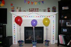 Decor at a candy Rainbow Party #rainbow #partydecor