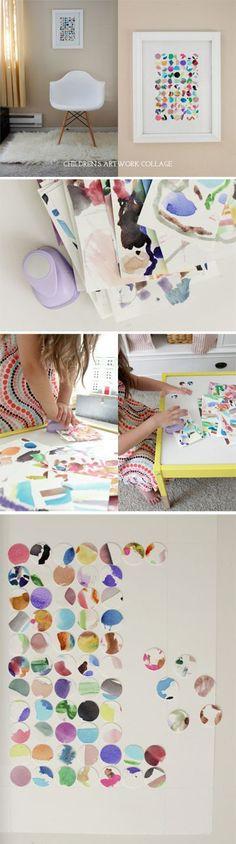 children's artwork collage