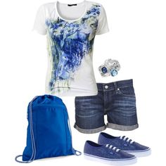 """Thirty one spirit cinch sac blue"" by jade-illeck on Polyvore www.mythirtyone.com/tbumbalough/"