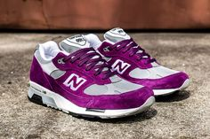 New Balance in Purple/Grey - EU Kicks: Sneaker Magazine Purple Suede, Purple Grey, Air Max Sneakers, Sneakers Nike, Purple Nikes, Sneaker Magazine, Fresh Kicks, Grey Leather, New Balance