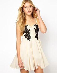 Image 1 - Opulence England - Maxi robe avec dentelle contrastante