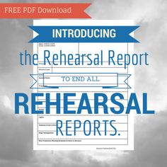 The rehearsal report to end all rehearsal reports! Drama Teacher, Drama Class, Typed Notes, Teaching Theatre, High School Drama, Lesson Plans, The Help, Coaching, Templates