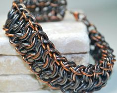 Chain Bracelet - Copper Chainmaille Bracelet - Chainmaille Jewelry - Modified King's Maille Weave