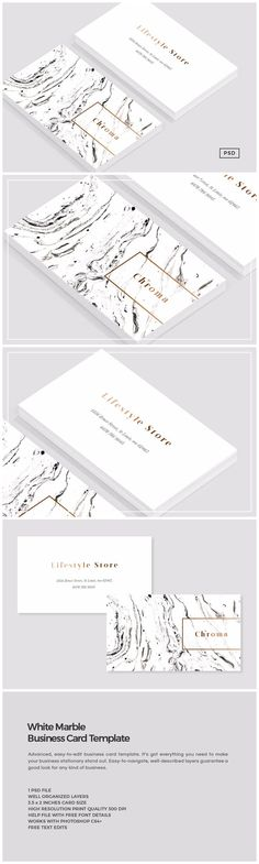 White Marble Copper Business Card Templates Introducing our Elegant White Marble Copper business card template, perfect for use in your next p by The Design Label Design Corporativo, Logo Design, Design Poster, Identity Design, Design Cars, Brand Identity, Design Patterns, Design Templates, Design Ideas