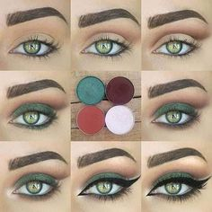 Green Eyes: Green Smokey Eye