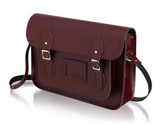 "The Classic | The Cambridge Satchel Company --> Size 13"" OR 14"" in Oxblood with Blind embossing of PLS"