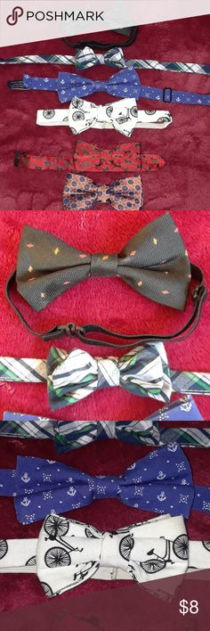 6 boy bowties EUC boy bowties Super cute! Smoke and pet free home  My prices are low so the best way to save will be to bundle multiple items Accessories Ties