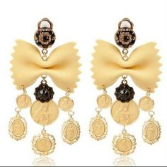Dolce and Gabbana Pasta Earrings