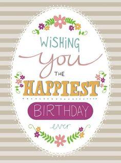 Happy Birthday Art, Happy Birthday Wishes Quotes, Happy Birthday Pictures, Birthday Blessings, Birthday Love, Happy Birthday Greetings, Birthday Quotes, Birthday Cards, Birthday Invitations