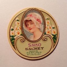 Early 1900's Vintage Salko Sachet Package Label Salux Perfumer St. Louis, Missouri by VintagePaperTrail on Etsy, only $2.99