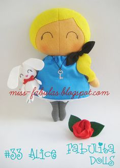 Ready to ship Alice in wonderland Rag doll tilda sweetheart