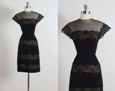 Night Bloom . vintage 1950s dress . vintage от millstreetvintage