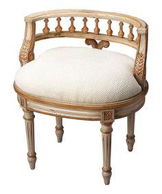 Love this Gold Vanity Seat on #zulily! #zulilyfinds