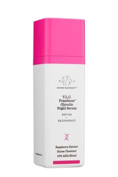 Drunk Elephant ~ TLC Framboos Glycolic Night Serum  ~*^*~ Some feel the exfoliating AHAs in this gel have improved the texture of their skin enough to stop using the prescription Retin-A.  Impressive for those of us who do not live close to a dermatologist or at least within 150 miles of one.  That's one way of course.