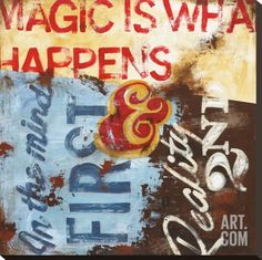 Strategy For Everyday Sorcery Stretched Canvas Print by Rodney White at Art.com