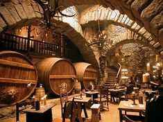 IGNFF Exclusive: Brothers Grimm Diary: Guy Hendrix Dyas Part 2 - IGN The Production Designer of Gilliam's latest continues his tour. Taverna Medieval, Medieval Houses, Brothers Grimm, Restaurant Design, Brewery Design, Restaurant Restaurant, Modern Restaurant, Architecture, Future House