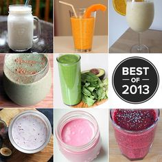 Best Smoothies of the Year...They all sound so delicious and a fun deviation from my normal breakfast ones.