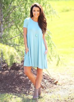 PIKO Kiss Tomorrow Goodbye Dress in Seafoam | Monday Dress Boutique