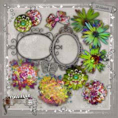crea Diy Craft Projects, Diy Crafts, Digital Scrapbooking, Floral Wreath, Variables, Amanda, Design, Floral Crown, Make Your Own