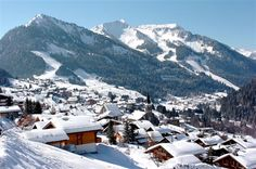 Chatel, France. A town where we enjoy skiing between France and Switzerland.