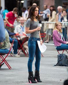 Megan Fox and Will Arnett seen filming for Teenage Mutant Ninja Turtles 2 in NYC