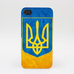 465GS Retro Ukraine National Flag Hard White Case Cover for iPhone 4 4s 5 5s 5c SE 6 6s 7 7 Plus Print