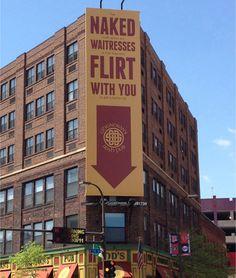Outdoor ad: O'Donovan's Pub: Naked Waitresses