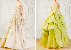 RAMI KADI Le Royaume Enchanté Collection... also super in love with this lime one on the right as a wedding dress too (In white/ivory probably)