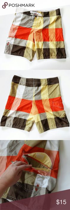 "Mossimo Board Shorts Excellent condition. Velcro and tie waist. 10"" inseam. Size 38 Mossimo Supply Co Swim Board Shorts"