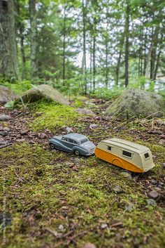 Antique Toy Car and Trailor