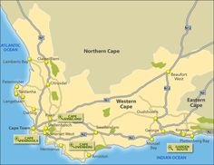 Toursist Map of Western Cape, South Africa
