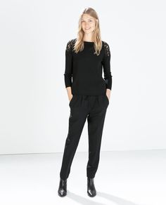 Image 1 of TROUSERS WITH FRONT PLEAT from Zara Zara Pinterest