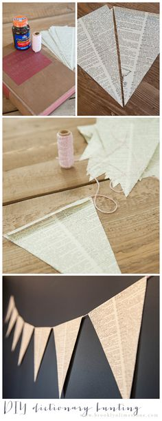 Brooklyn Limestone: Diy Dictionary Bunting