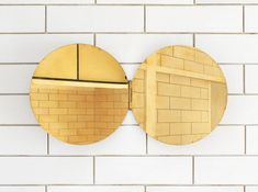 Brass Mirrors by Morie Nishimura