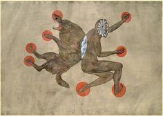 "Juxtapoz Magazine - ""Opus Hynogagia"" and ""Lexicon Infernali"" in Brooklyn Evil Stepmother, Creation Myth, Nature Drawing, Occult, Figurative Art, Mythology, Illustration Art, Illustrations, Symbols"