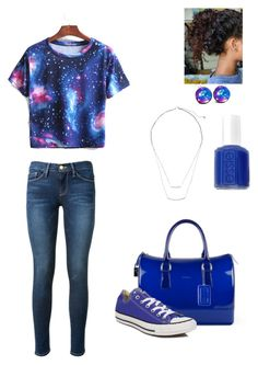 """Sumthin to go"" by monizzles ❤ liked on Polyvore featuring Frame Denim, Essie, Furla, Converse and H&M"