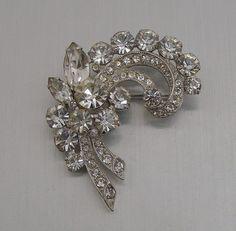 Vintage Eisenberg Ice Crystal Rhinestone Brooch | eBay