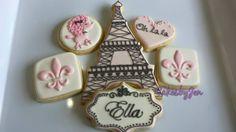 Paris Sugar Cookies by Cakes by Jen