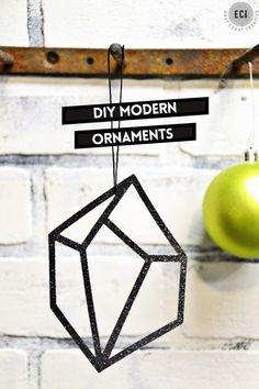 DIY Modern Geometric Gem Christmas Ornaments made with Cricut Explore -- East Coast Creative. #DesignSpaceStar Round 4