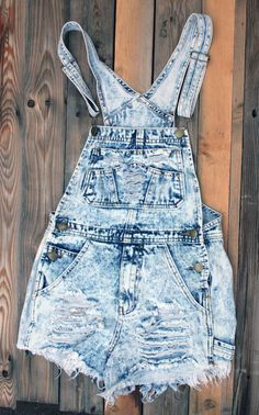 Denim Distressed Bib Overall Shorts by SouthernGirlApparel, $32.00