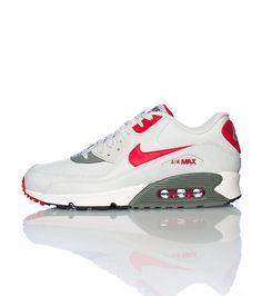brand new eb89b aea94 NIKE AIR MAX 90 RED GRAY   WHITE Cheap Nike Roshe, Nike Shoes Cheap,
