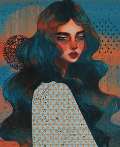 Love these colours and textures so much! Amazing digital illustration by . Art Sketches, Art Drawings, Fantasy Drawings, Fantasy Art, Arte Sketchbook, Ipad Art, Aesthetic Art, Portrait Art, Digital Illustration