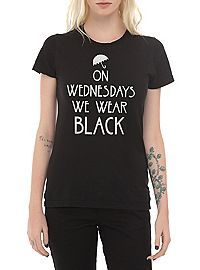 HOTTOPIC.COM - American Horror Story: Coven On Wednesdays We Wear Black Girls T-Shirt