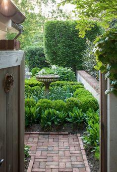Garden Design Trends for 2016 - Alles für den Garten Small Gardens, Outdoor Gardens, Courtyard Gardens, Modern Gardens, Formal Gardens, White Gardens, Unique Garden, The Secret Garden, Secret Gardens