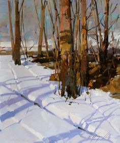 WINTER Landscape Painting Original Painting in by VaheArt on Etsy, $200.00