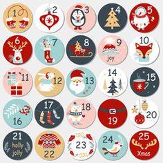 Advent Calenders, Diy Advent Calendar, Kids Calendar, Christmas Calendar, Printable Christmas Cards, Christmas Art, Vector Christmas, Christmas Decorations, Holiday Decor