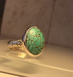 Artisan Turquoise and Sterling Silver Stacking Ring – Emilio & Kate