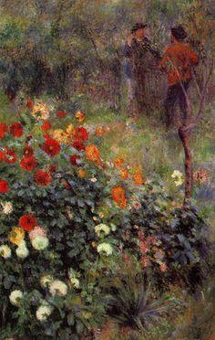 Pierre-Auguste Renoir, Le jardin de la rue Cortot à Montmartre (1876)   # Pin++ for Pinterest #