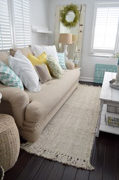 A spring home refresh with Rugs USA's Maui Chunky Loop Jute!